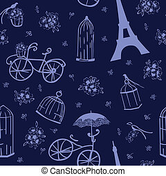 seamless pattern flowers and birds