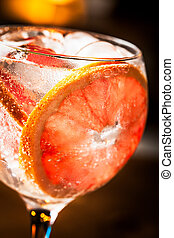 Gin Tonic - Cold Gin Tonic ready to drink.
