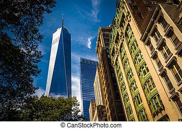 Uno, mundo, comercio, centro, otro, edificios, más...