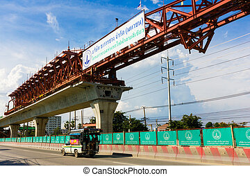Bangkok Thailand, 2014 August 24 : construction site of the skyt
