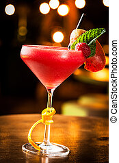 Strawberry daiquiri - Great strawberry daiquiri in a night...