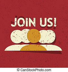 Join Us Vector Background