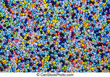 Many small beaded beads - Scattering of many small,...