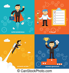 Set of businessman characters - Set of businessman vector...