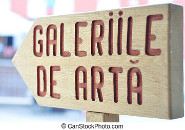art gallery - sibiu city romania art gallery board sign