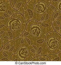 abstract gold rose flowers seamless background