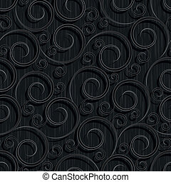 seamless black floral wallpaper pattern