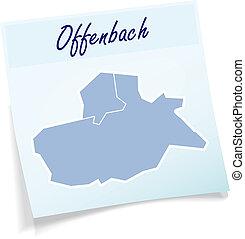 Map of Marburg-Biedenkopf as sticky note in blue