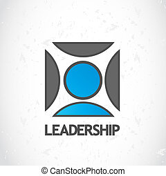 Leadership logo design vector