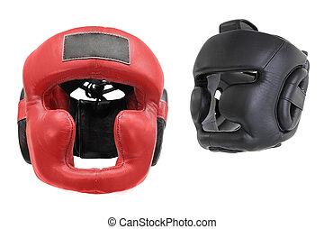 boxeo, casco