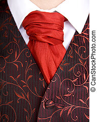 Cravat Ascot Tie on groom