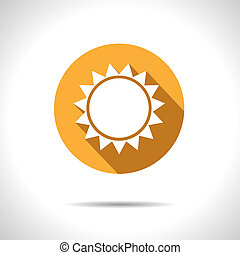 Vector sun icon. Eps10 - Vector orange sun icon. Eps10