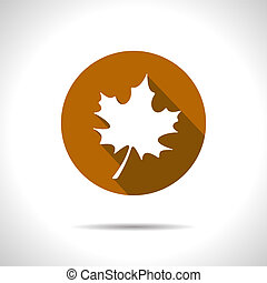 Vector maple leaf icon Eps10 - Vector maple brawn leaf icon...