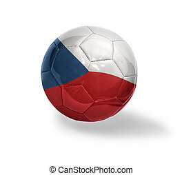 Czech Football - Football ball with the national flag of...