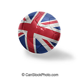 British Football - Football ball with the national flag of...