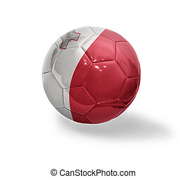 Maltese Football - Football ball with the national flag of...