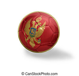 Montenegrin Football - Football ball with the national flag...