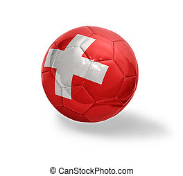 Swiss Football - Football ball with the national flag of...