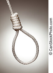 Hangman\'s Noose on a Spot Lit Background.