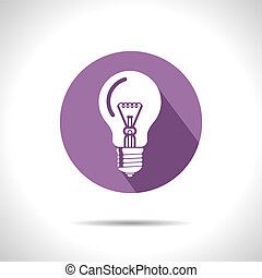 Vector lightbulb icon Eps10 - Vector lightbulb violet icon...