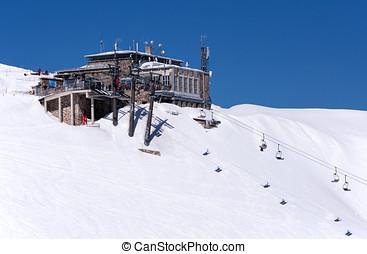 Ski center Kasprowy in Tatras, Poland. Top station - Top...