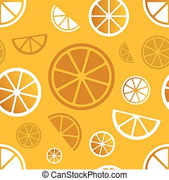 Vector seamless citrus pattern
