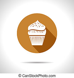 Vector cupcake icon. Eps10