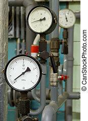 Manometer pressure in the boiler room