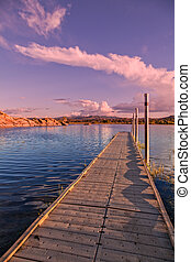 Willow lake Sunset Prescott Arizona - a beautiful sunset at...