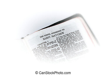 bible open to matthew vignette