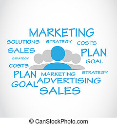 Marketing Sales Word Cloud Vector