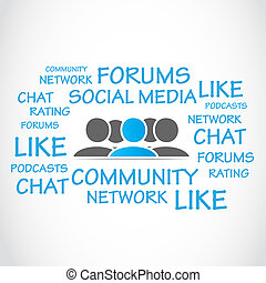 social media forums vector background
