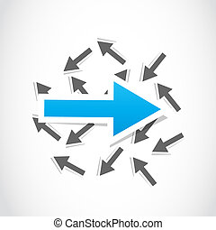 vector decision, choice arrow background