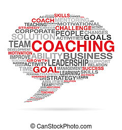 Coaching Business Succes Cloud Concept - Coaching business...