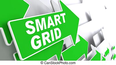 Smart Greid on Green Arrow - Smart Grid Green Arrows with...