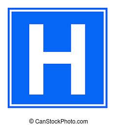 hospital, señal