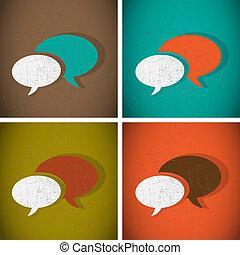 Talk Bubbles Vintage