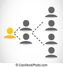 social network marketing vector