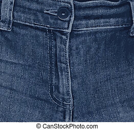 Jean Zipper - The zipper from a pair of ladies blue denim...