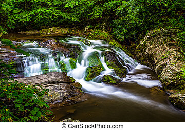 Smoky Mountain Stream - Peaceful Smoky Mountain stream along...