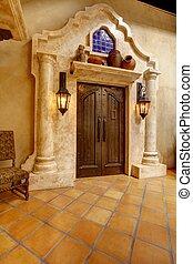 Mormon Battalion Historic site, San Diego Entrance door with...