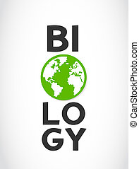 biology word and world symbol vector