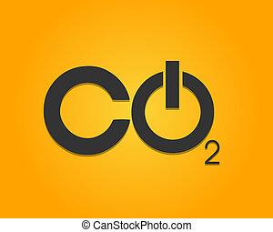 CO2 Power Button Vector