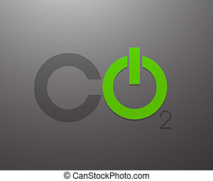 Co2 Power Concept Vector