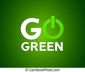 Go green power vector