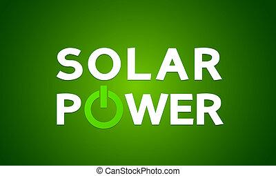 Solar power energy concept vector