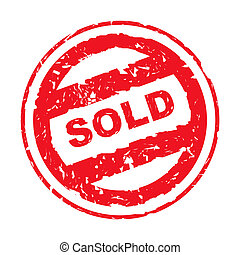 Used sold stamp