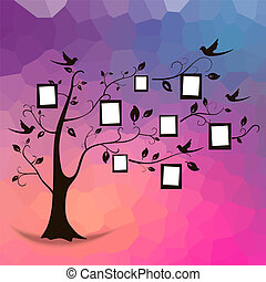 Tree and photos - Family tree design, insert your photos...