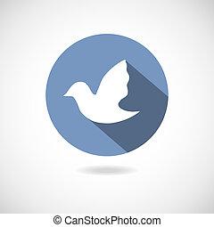 Social media icon - Bird social media icon. Web vector...
