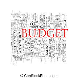 Word tags wordcloud of budget